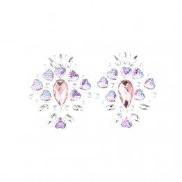 Amosfun Lady Crystal Breast Pasties Acryl Diamanten kleben Kunst Karneval Party Brust Aufkleber (lila) - 1