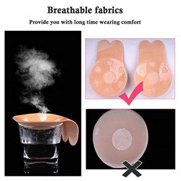 ANSUG 2 Pairs Frauen unsichtbare Brust Lift Up Nippel Cover Tape Adhesive Pasties Aufkleber trägerlosen Backless Lifting Bra - 6