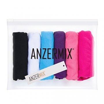 Anzermix Damen 6er Pack Baumwolle Tanga Unterwäsche Assorted -Solide XL - 5