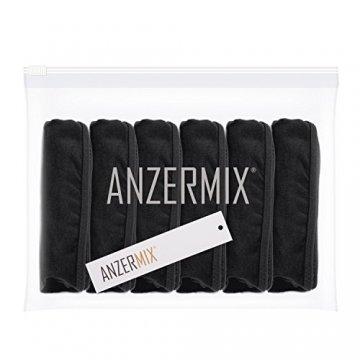 Anzermix Damen 6er Pack Baumwolle Thong Unterwäsche Assorted (Black 6Pack, Large) - 5
