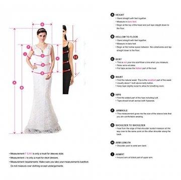 Babyonline® Damen Spitzenkleider Lang Ärmellos Tüll Abendkleider Lang Ballkleider Cocktailkleider Lang Sommerkleider, Rosa, Gr. 38 - 4