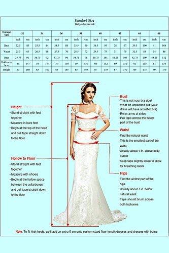 Babyonlinedress® Damen Kleider Langes Festliches A Linie Brautjungfernkleid Tüll Abendkleid Cocktailkleid Faltenrock Altrosa 36 - 7