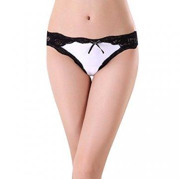 Bezioner 5er Pack Damen Slips Soft Unterhosen Panties Hipster Mit Spitze Strings Tangas Small B - 6