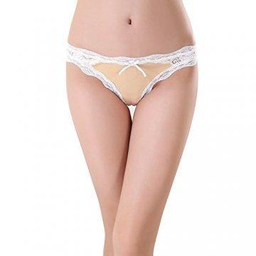 Bezioner 5er Pack Damen Slips Soft Unterhosen Panties Hipster Mit Spitze Strings Tangas Small B - 8