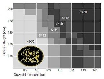 BIGGI BIG Magic 20 StrapsStrümpfe Große Größen-schwarz-48-50 - 6