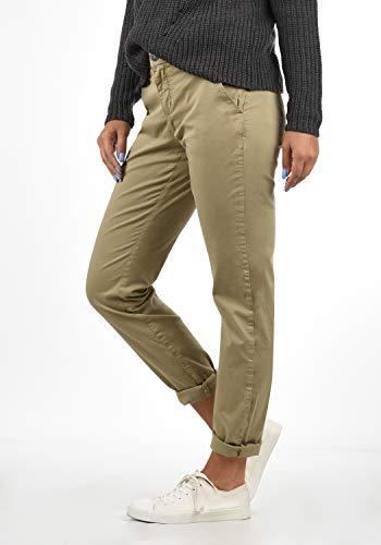 BlendShe Chilli Damen Chino Hose Stoffhose Regular-Fit, Größe:L, Farbe:Silver Mink Washed (20255) - 3