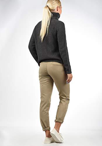 BlendShe Chilli Damen Chino Hose Stoffhose Regular-Fit, Größe:L, Farbe:Silver Mink Washed (20255) - 4
