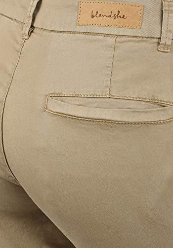 BlendShe Chilli Damen Chino Hose Stoffhose Regular-Fit, Größe:L, Farbe:Silver Mink Washed (20255) - 6