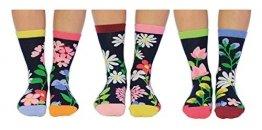 Blumen im Garten Oddsocks Socken in 37-42 im 6er Set - Strumpf - 1