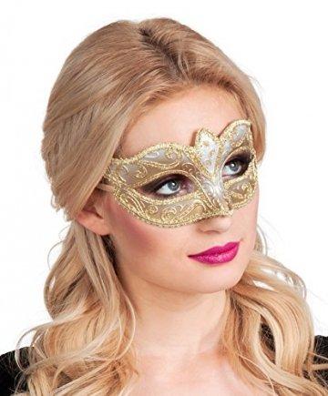 Boland 00338 - Augenmaske Venice Felina, Gold - 1