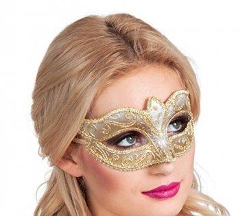 Boland 00338 - Augenmaske Venice Felina, Gold - 2