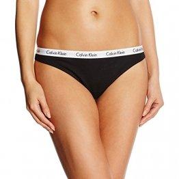 Calvin Klein Carouse, Tanga para Mujer, Negro (black 001), XS (Tamaño del fabricante: 34) - 1
