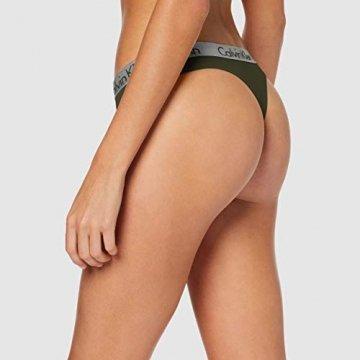 Calvin Klein Damen Thong Tanga, Grün (Duffel Bag Fdx), No Aplica (Herstellergröße: M) - 3