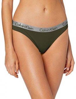 Calvin Klein Damen Thong Tanga, Grün (Duffel Bag Fdx), No Aplica (Herstellergröße: M) - 1