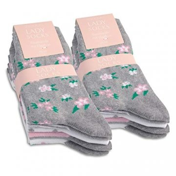 Celodoro 10 Paar süße Damen Socken-35-38 -
