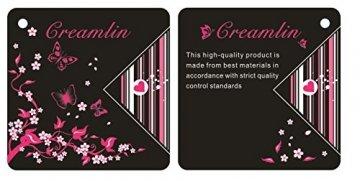 Creamlin Sequin Pasties für Womens Lingerie Brust Blütenblatt Pasty Kleber wiederverwendbar mit Quaste (Schwarz) - 5