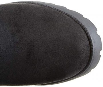 Damen Schuhe Stiefel Overknees Langschaft Boots Blockabsatz High Heels 127266 Schwarz Schwarz 37 Flandell - 7
