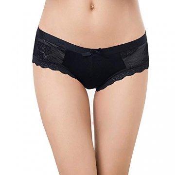Damen Sexy Spitze Unterwäsche Panties Hipster Soft Slips lace Höschen Dessous Niedrige Taille Glamour Slips Damen 5er Pack/6 Pack, Art-3, XL - 3