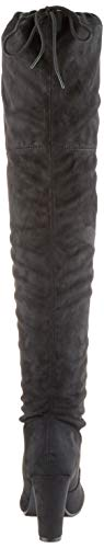 Damen Stiefel Schleifen Overknees Veloursleder-Optik Langschaftstiefel Boots Schuhe 130732 Schwarz Black 37 Flandell - 2