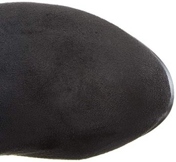 Damen Stiefel Schleifen Overknees Veloursleder-Optik Langschaftstiefel Boots Schuhe 130732 Schwarz Black 37 Flandell - 7