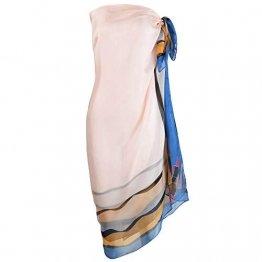 Damen Strandkleid/Sarong mit Blumenmuster - Blau - Large - 1