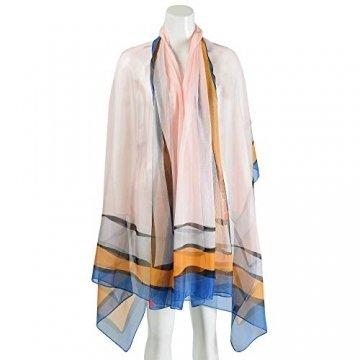 Damen Strandkleid/Sarong mit Blumenmuster - Blau - Large - 3