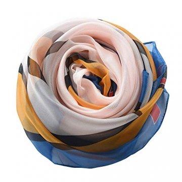 Damen Strandkleid/Sarong mit Blumenmuster - Blau - Large - 5