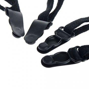 Damen strapsstrümpfe Gürtel Spitze Dessous Oberschenkel Hohe Strümpfe mit Strumpfgürtel, Schwarz- Eine Größe - 4