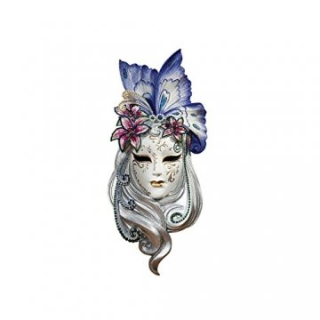 Design Toscano Maske von Venedig, Wandskulptur: Schmetterlings-Maske - 1