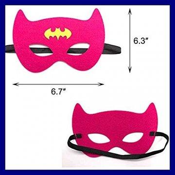 DREAMWIN Superhelden Masken, 38 Stücke Filz Masken Superhero Cosplay Party Masken Halbmasken mit Elastischen Seil für Erwachsene und Kinder Party Maskerade Multicolor - 2