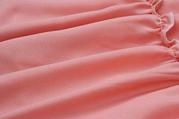 ECOWISH V Ausschnitt Kleid Damen Spitzenkleid Träger Rückenfreies Kleider Sommerkleider Strandkleider Rosa-1 XL - 7