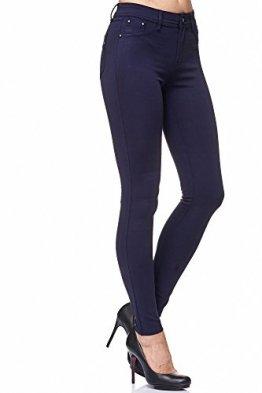 Elara Damen Stretch Hose | Skinny Jegging | Slim Fit | Chunkyrayan H08 Dk.Blue 36 - 1