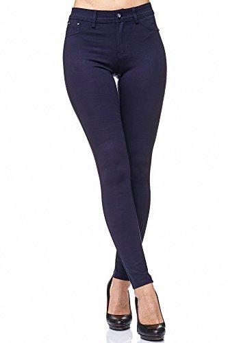 Elara Damen Stretch Hose | Skinny Jegging | Slim Fit | Chunkyrayan H08 Dk.Blue 36 - 2