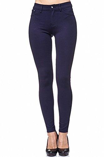 Elara Damen Stretch Hose | Skinny Jegging | Slim Fit | Chunkyrayan H08 Dk.Blue 36 - 4