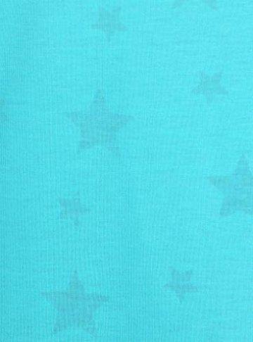 ELFIN Damen T-Shirt Kurzarmshirt Basic Tops Ärmelloses Tee Allover-Sternen Druck Shirt Sommer Shirt - 4