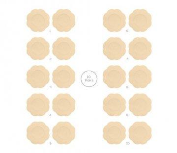 Fasionato 10 Paar Nippleless Abdeckung Premium Adhesive Brust Blütenblatt Blume geformt Nippel Cover Concealer Pads - 5