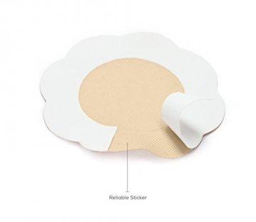 Fasionato 10 Paar Nippleless Abdeckung Premium Adhesive Brust Blütenblatt Blume geformt Nippel Cover Concealer Pads - 6