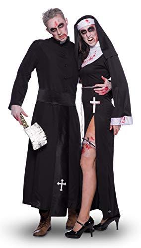 Folat 21945 Sexy Nonne Kostüm, S-M, Schwarz - 4