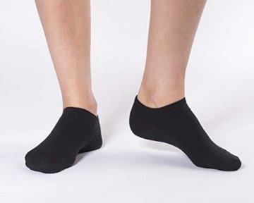 FOOTNOTE I 10 Paar I Sneaker Socken Ohne Gummi Ohne Naht Damen Herren Schwarz in 39 40 41 42 - 4