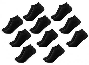 FOOTNOTE I 10 Paar I Sneaker Socken Ohne Gummi Ohne Naht Damen Herren Schwarz in 39 40 41 42 - 1
