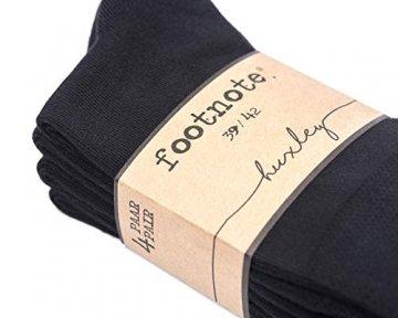 FOOTNOTE I 10 Paar I Sneaker Socken Ohne Gummi Ohne Naht Damen Herren Schwarz in 39 40 41 42 - 5