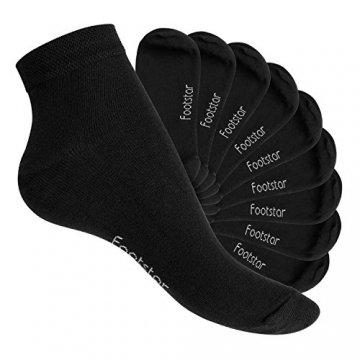Footstar 10 Paar SNEAK IT! Unisex Kurzschaft Sneaker Schwarz-35-38 - 1