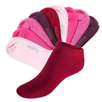 Footstar 10 Paar SNEAK IT! Unisex Sneaker Berrytöne-39-42 - 1