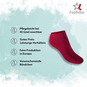 Footstar 10 Paar SNEAK IT! Unisex Sneaker Berrytöne-39-42 -