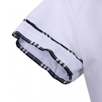 Freebily Damen Reizwäsche Schulmädchen Kostüm Plaid Uniform Mit Krawatte Dessous Set Karneval Fasching Cosplay Kostüm Weiß & Marineblau M - 6