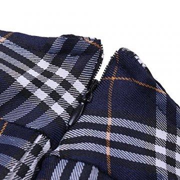Freebily Damen Reizwäsche Schulmädchen Kostüm Plaid Uniform Mit Krawatte Dessous Set Karneval Fasching Cosplay Kostüm Weiß & Marineblau M - 7