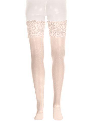 GLAMORY Damen Strapsstrümpfe Dream 20 DEN, Champagner (Weiß), X-Large (Herstellergröße: XL-(48-50)) - 2