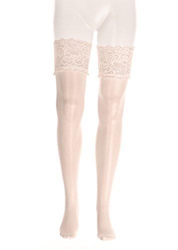 GLAMORY Damen Strapsstrümpfe Dream 20 DEN, Champagner (Weiß), X-Large (Herstellergröße: XL-(48-50)) - 3