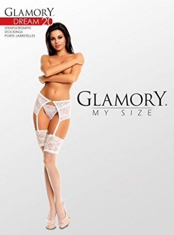 GLAMORY Damen Strapsstrümpfe Dream 20 DEN, Champagner (Weiß), X-Large (Herstellergröße: XL-(48-50)) - 4
