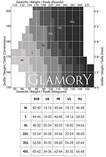GLAMORY Damen Strapsstrümpfe Perfect 20 DEN, Schwarz (Schwarz), X-Large (Herstellergröße: XL-(48-50)) - 6